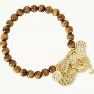 Lilly Pulitzer Faux Tortoise Beaded Bracelet